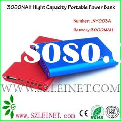 2012 New Products 3000MAH High Capacity Mobile Phone Power Bank