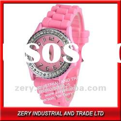 2012 hot sale silicone ladies geneva japan movt quartz watch