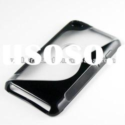 For iPod Touch 4 4G S Shape TPU+PC case 2012 Hot Sale