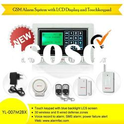 SGS&GMC!home security alarm system with LCD display and Touch keypad