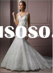 111370 2012 Popular V-neckline Lace Mermaid Wedding Dress