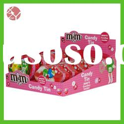 eco-friendly full printed durable acrylic candy box with scoop