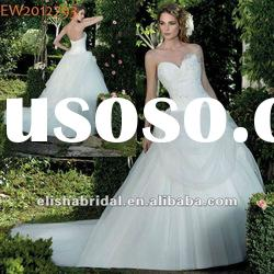 Ball Gown Tulle Sweetheart Cathedral Long Train Ivory Wedding Dresses