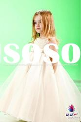 Hand-madef Traditional Organza and Lace ball gown luxury flower girl dresses