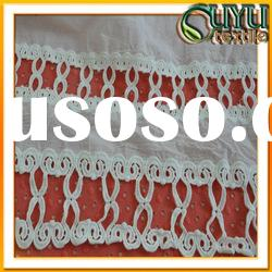 embroidery lace fabric/cotton lace fabric/chemical lace fabric