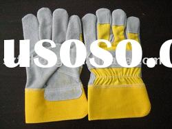 quality leather split cowhide leather garden glove for general work
