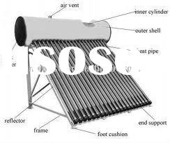 solar hot water, pressurized solar water heater,solar water heating system