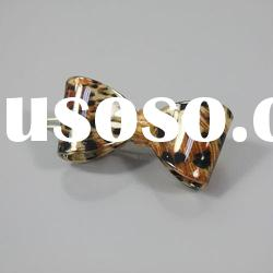 2012 lastest fashion acrylic butterfly hair pins with leopard print
