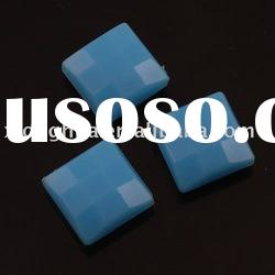 opaque square faceted fashion beads for jeweley,making jewelry beads