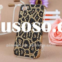 Hot selling 3D Leopard Design iphone 4 cover case IC00049