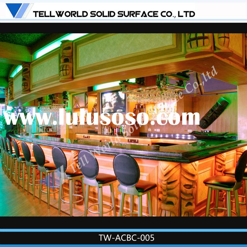 modern Man-made solid surface bar counter and Bar Top