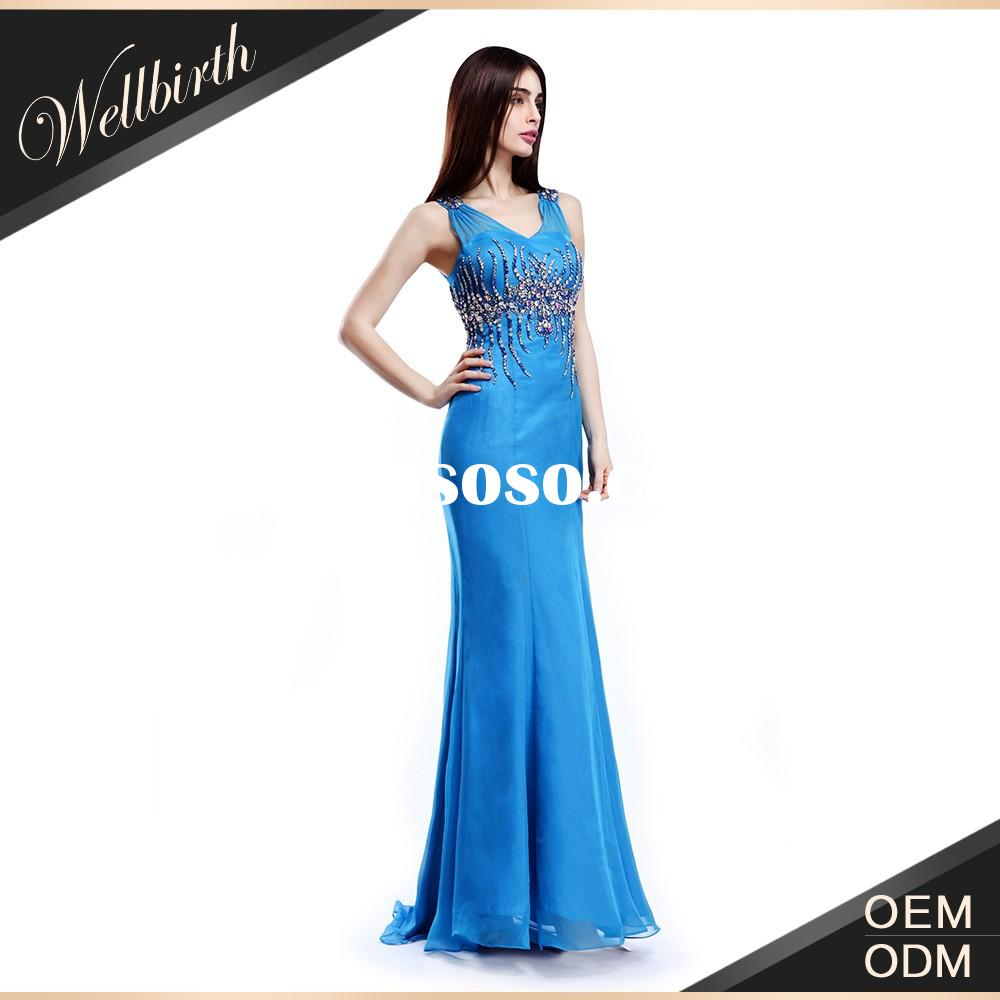 New Fashion High Quality Ladies Clothing Elegant Long Chiffon Evening Party Women's Summer D