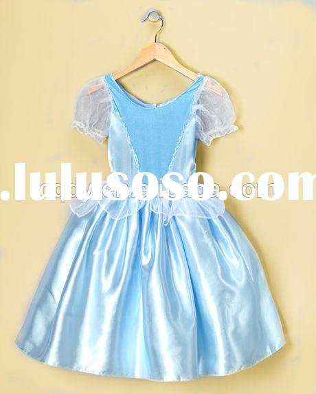 2014 wholesale birthday dress for baby 1 year old girl with puff sleeve fairy baby girl party dress