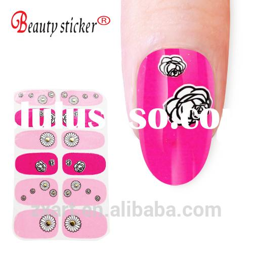 Hot sale cool full cover shiny Glitter nail stickers for nail art,gel nail stickers