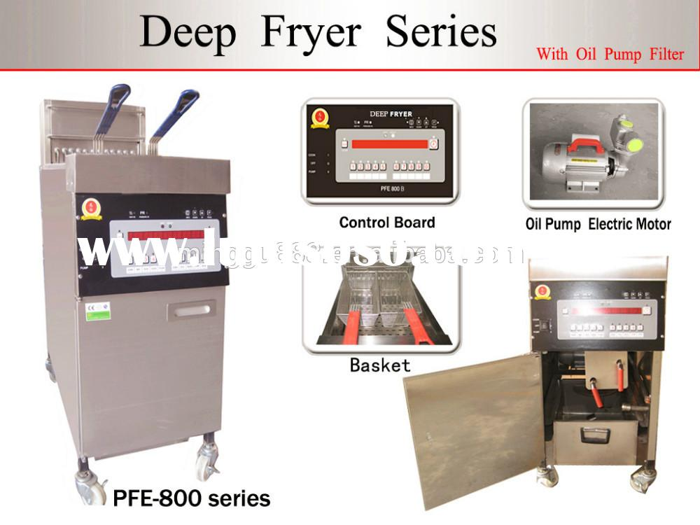 Chicken gas deep fryer/ Potato chips stainless steel deep fryer, Countertop donut deep fryer/ henny