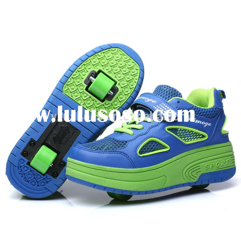 fashion two wheels roller shoes sneakers for boys girls, high quality children roller skate shoes ho