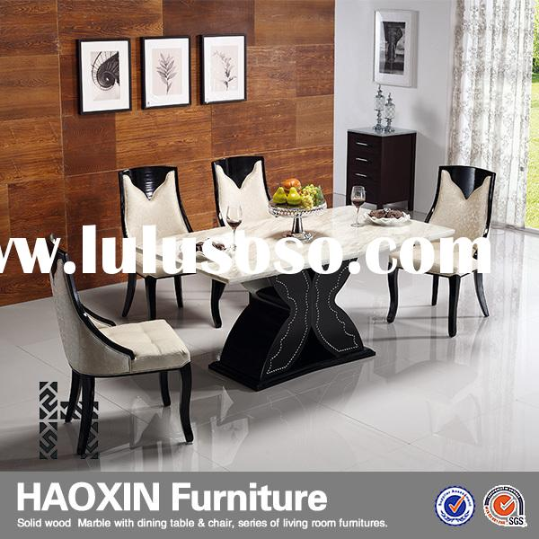 marble top dining set,dining room furniture,solid wood dining table chair