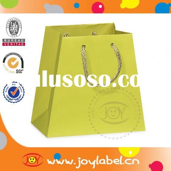 customized wholesale small colored paper bags with handles