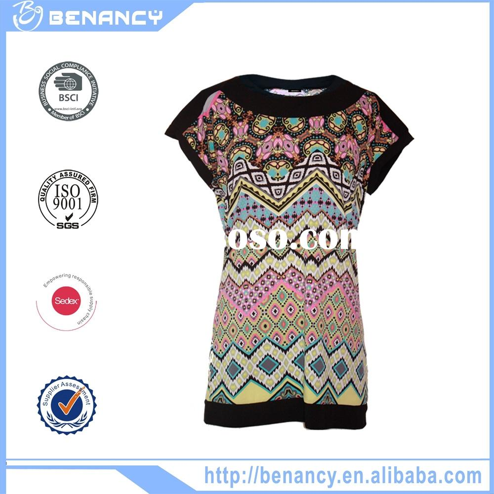 Fashion ladies tops and blouse 2015 latest design wholesale online clothing store wholeasle price